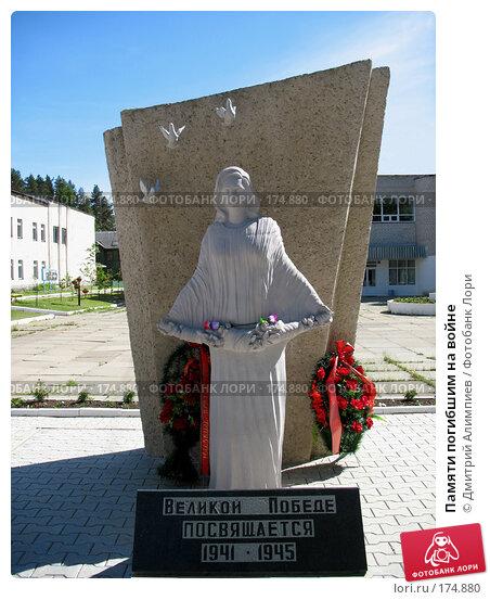 Памяти погибшим на войне, фото № 174880, снято 5 июня 2007 г. (c) Дмитрий Алимпиев / Фотобанк Лори