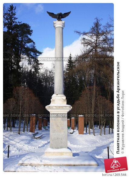 Памятная колонна в усадьбе Архангельское, эксклюзивное фото № 269544, снято 3 февраля 2008 г. (c) Журавлев Андрей / Фотобанк Лори