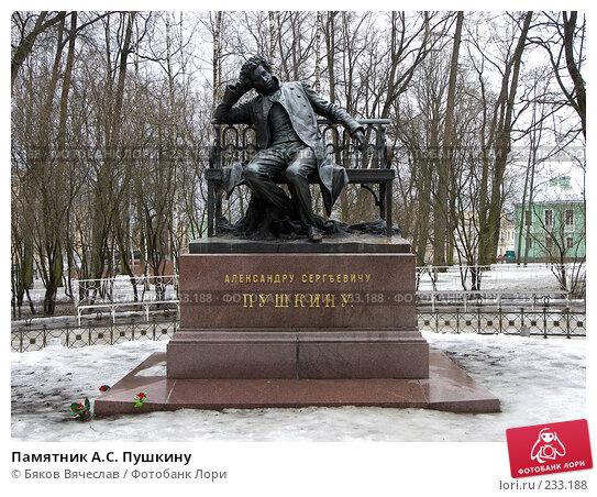 Памятник А.С. Пушкину, фото № 233188, снято 27 февраля 2008 г. (c) Бяков Вячеслав / Фотобанк Лори