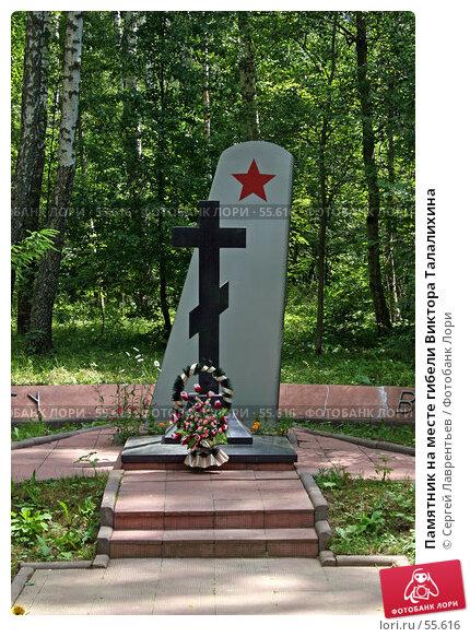 Памятник на месте гибели Виктора Талалихина, фото № 55616, снято 23 июня 2007 г. (c) Сергей Лаврентьев / Фотобанк Лори