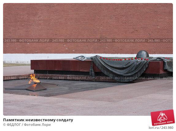 Памятник неизвестному солдату, фото № 243980, снято 6 апреля 2008 г. (c) ФЕДЛОГ.РФ / Фотобанк Лори