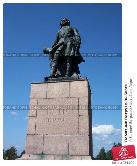 Купить «Памятник Петру I в Выборге», фото № 34692, снято 2 августа 2003 г. (c) Евгений Батраков / Фотобанк Лори