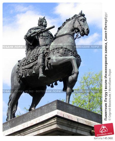 Купить «Памятник Петру I возле Инженерного замка, Санкт-Петербург», фото № 45960, снято 20 мая 2007 г. (c) Сергей Васильев / Фотобанк Лори