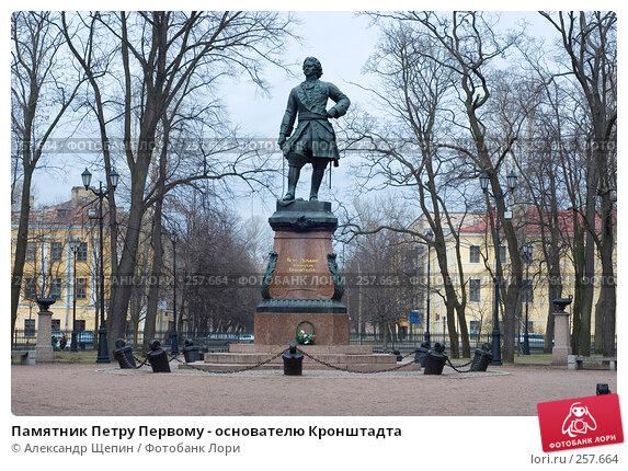 Памятник Петру Первому - основателю Кронштадта, эксклюзивное фото № 257664, снято 19 апреля 2008 г. (c) Александр Щепин / Фотобанк Лори