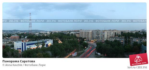 Панорама Саратова, фото № 203316, снято 23 июля 2017 г. (c) Anna Kavchik / Фотобанк Лори