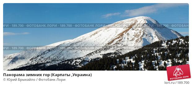 Панорама зимних гор (Карпаты ,Украина), фото № 189700, снято 28 октября 2016 г. (c) Юрий Брыкайло / Фотобанк Лори