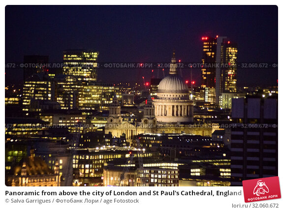 Panoramic from above the city of London and St Paul's Cathedral, England. Стоковое фото, фотограф Salva Garrigues / age Fotostock / Фотобанк Лори