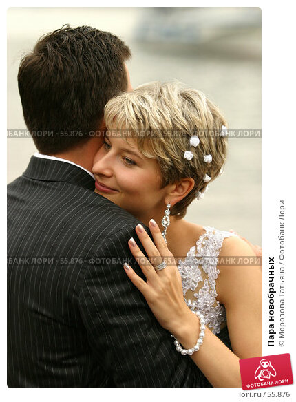 Пара новобрачных, фото № 55876, снято 19 августа 2006 г. (c) Морозова Татьяна / Фотобанк Лори