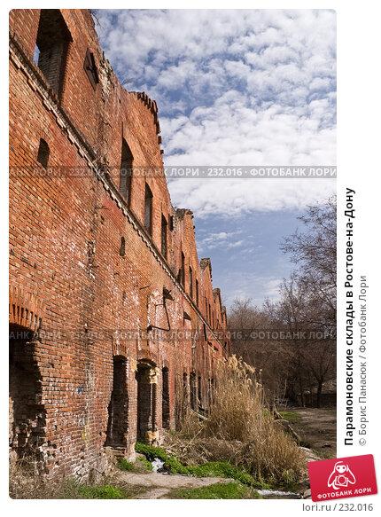 Парамоновские склады в Ростове-на-Дону, фото № 232016, снято 22 марта 2008 г. (c) Борис Панасюк / Фотобанк Лори