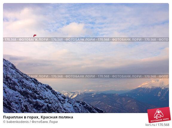 Купить «Параплан в горах, Красная поляна», фото № 170568, снято 3 января 2006 г. (c) Бабенко Денис Юрьевич / Фотобанк Лори