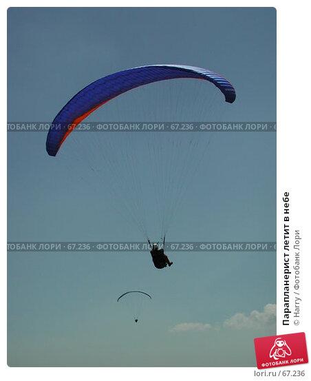 Парапланерист летит в небе, фото № 67236, снято 20 августа 2004 г. (c) Harry / Фотобанк Лори