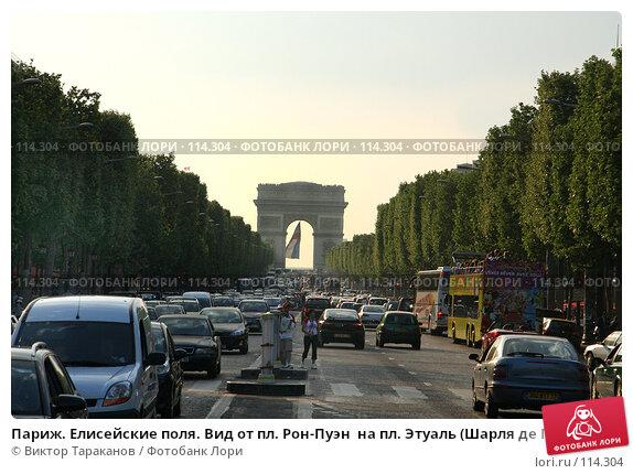 Купить «Париж. Елисейские поля. Вид от пл. Рон-Пуэн  на пл. Этуаль (Шарля де Голля) и Триумфальную Арку», эксклюзивное фото № 114304, снято 28 апреля 2007 г. (c) Виктор Тараканов / Фотобанк Лори