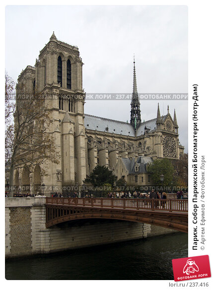 Купить «Париж. Собор Парижской Богоматери (Нотр-Дам)», фото № 237416, снято 10 ноября 2007 г. (c) Артем Ефимов / Фотобанк Лори