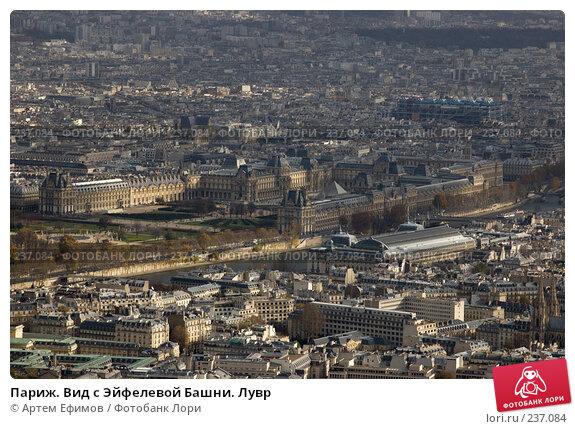 Париж. Вид с Эйфелевой Башни. Лувр, фото № 237084, снято 11 ноября 2007 г. (c) Артем Ефимов / Фотобанк Лори