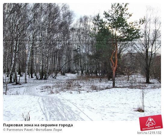 Купить «Парковая зона на окраине города», фото № 219132, снято 22 апреля 2018 г. (c) Parmenov Pavel / Фотобанк Лори