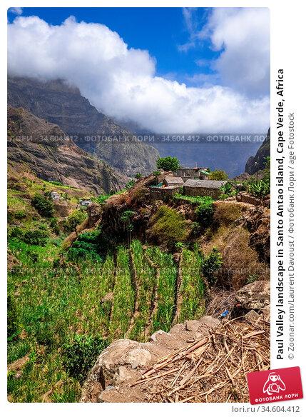 Paul Valley landscape in Santo Antao island, Cape Verde, Africa. Стоковое фото, фотограф Zoonar.com/Laurent Davoust / age Fotostock / Фотобанк Лори
