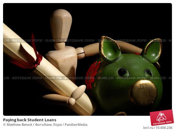 Paying back Student Loans. Стоковое фото, фотограф Matthew Benoit / PantherMedia / Фотобанк Лори