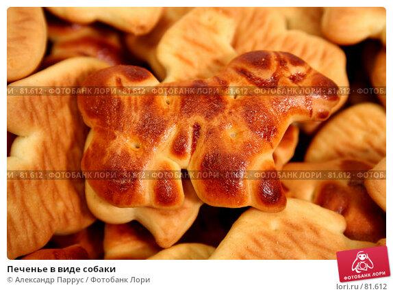 Печенье в виде собаки, фото № 81612, снято 2 января 2007 г. (c) Александр Паррус / Фотобанк Лори