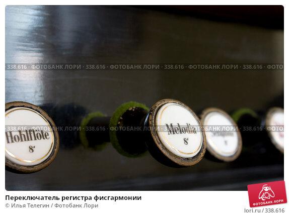 Переключатель регистра фисгармонии, фото № 338616, снято 26 июня 2008 г. (c) Илья Телегин / Фотобанк Лори