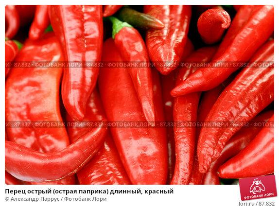 Перец острый (острая паприка) длинный, красный, фото № 87832, снято 8 сентября 2007 г. (c) Александр Паррус / Фотобанк Лори