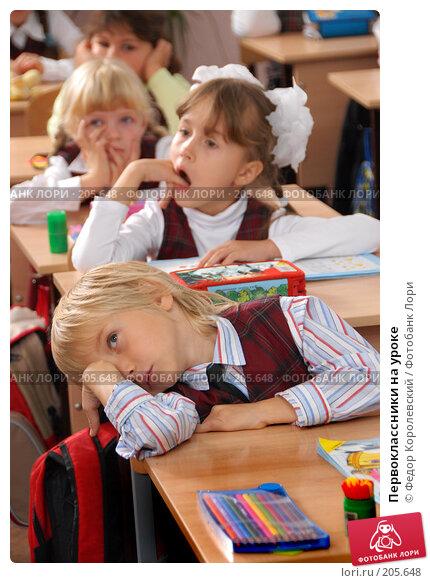 Купить «Первоклассники на уроке», фото № 205648, снято 26 октября 2007 г. (c) Федор Королевский / Фотобанк Лори