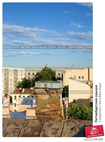 Купить «Петербургские крыши», фото № 99264, снято 19 июня 2007 г. (c) Argument / Фотобанк Лори