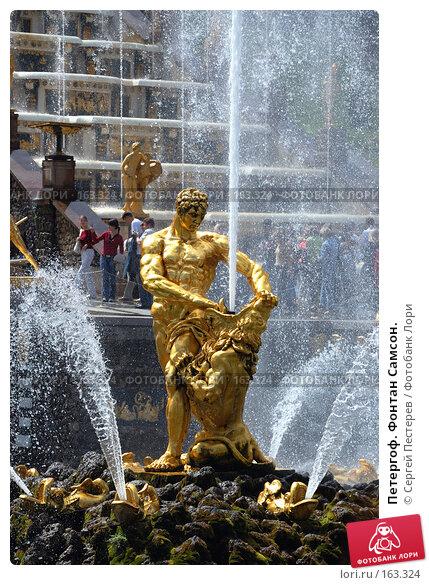 Петергоф. Фонтан Самсон., фото № 163324, снято 8 июля 2007 г. (c) Сергей Пестерев / Фотобанк Лори