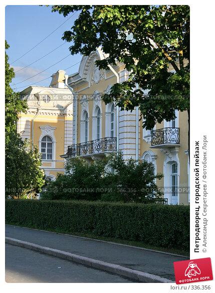 Купить «Петродворец, городской пейзаж», фото № 336356, снято 12 июня 2008 г. (c) Александр Секретарев / Фотобанк Лори