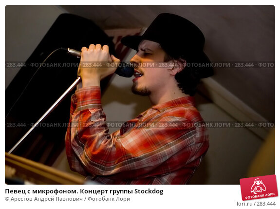 Певец с микрофоном. Концерт группы Stockdog, фото № 283444, снято 17 февраля 2008 г. (c) Арестов Андрей Павлович / Фотобанк Лори