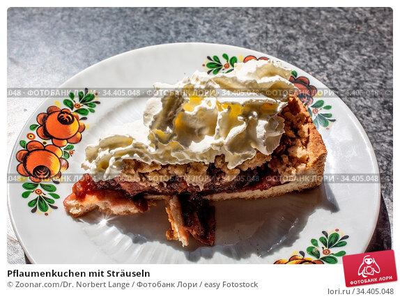 Pflaumenkuchen mit Sträuseln. Стоковое фото, фотограф Zoonar.com/Dr. Norbert Lange / easy Fotostock / Фотобанк Лори