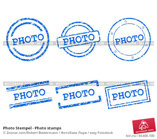Photo Stempel - Photo stamps. Стоковое фото, фотограф Zoonar.com/Robert Biedermann / easy Fotostock / Фотобанк Лори