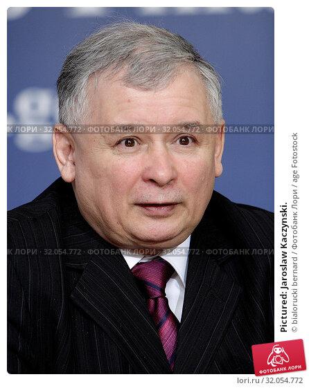 Pictured: Jaroslaw Kaczynski. Редакционное фото, фотограф bialorucki bernard / age Fotostock / Фотобанк Лори