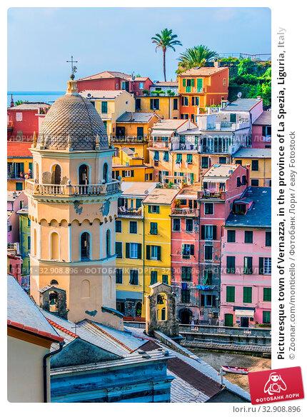 Picturesque town of Vernazza, in the province of La Spezia, Liguria, Italy. Стоковое фото, фотограф Zoonar.com/monticello / easy Fotostock / Фотобанк Лори