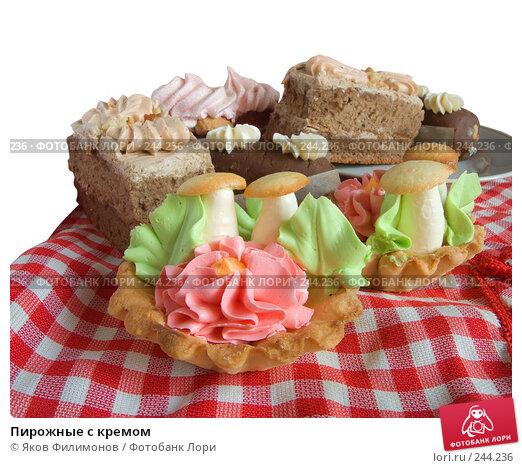 Купить «Пирожные с кремом», фото № 244236, снято 5 апреля 2008 г. (c) Яков Филимонов / Фотобанк Лори