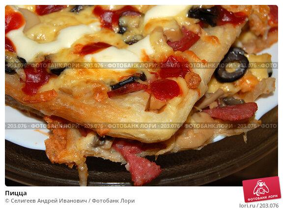 Купить «Пицца», фото № 203076, снято 14 февраля 2008 г. (c) Селигеев Андрей Иванович / Фотобанк Лори