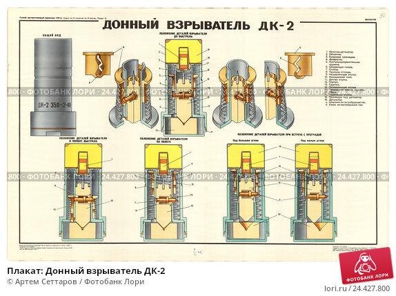 Плакат: Донный взрыватель ДК-2. Редакционная иллюстрация, иллюстратор Артем Сеттаров / Фотобанк Лори