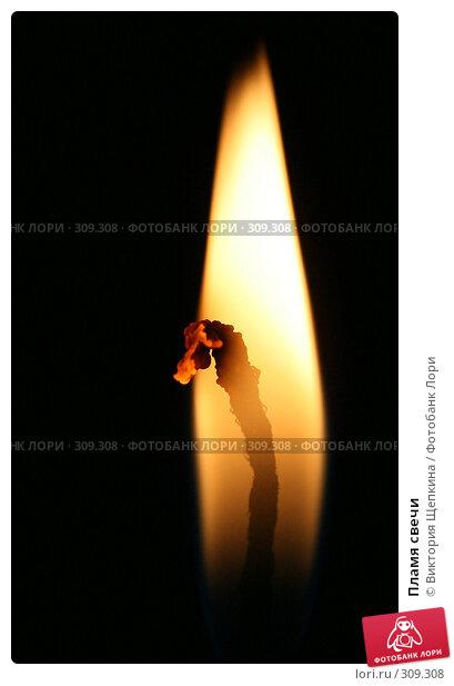 Купить «Пламя свечи», фото № 309308, снято 25 апреля 2008 г. (c) Виктория Щепкина / Фотобанк Лори