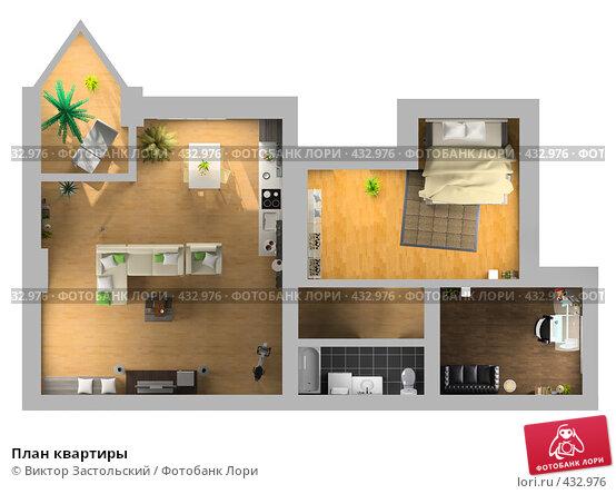 Планировка квартиры вид сверху