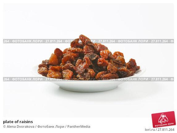 Купить «plate of raisins», фото № 27811264, снято 22 февраля 2018 г. (c) PantherMedia / Фотобанк Лори
