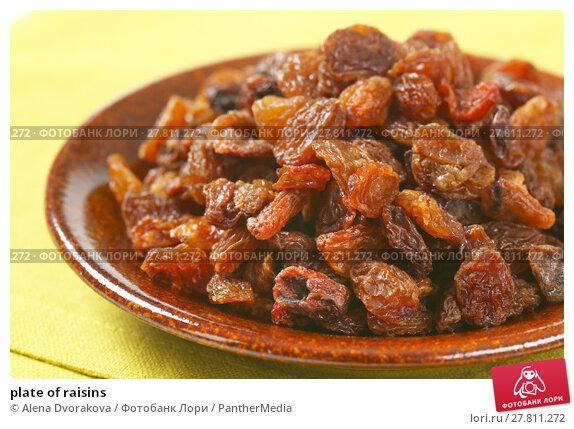 Купить «plate of raisins», фото № 27811272, снято 16 октября 2018 г. (c) PantherMedia / Фотобанк Лори