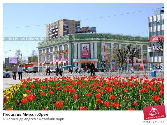 Купить «Площадь Мира, г.Орел», фото № 40144, снято 6 мая 2007 г. (c) Александр Авдеев / Фотобанк Лори