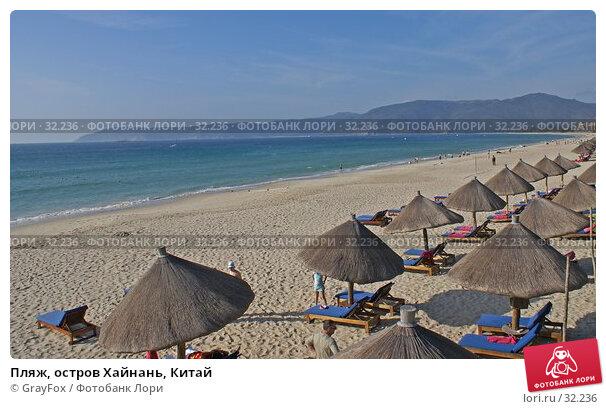 Пляж, остров Хайнань, Китай, фото № 32236, снято 1 января 2007 г. (c) GrayFox / Фотобанк Лори