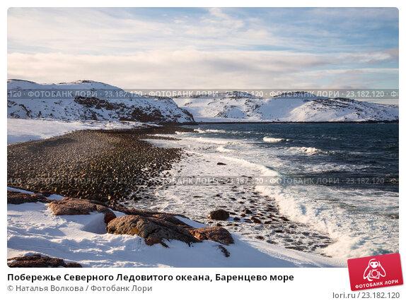 Побережье Северного Ледовитого океана, Баренцево море, фото № 23182120, снято 11 марта 2016 г. (c) Наталья Волкова / Фотобанк Лори
