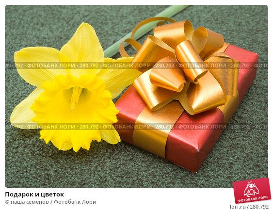 Подарок и цветок, фото № 280792, снято 21 апреля 2008 г. (c) паша семенов / Фотобанк Лори