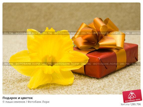 Подарок и цветок, фото № 280796, снято 21 апреля 2008 г. (c) паша семенов / Фотобанк Лори