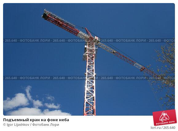 Купить «Подъемный кран на фоне неба», фото № 265640, снято 25 апреля 2008 г. (c) Igor Lijashkov / Фотобанк Лори