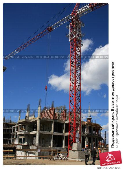 Подъемный кран. Высотное домостроение, фото № 265636, снято 25 апреля 2008 г. (c) Igor Lijashkov / Фотобанк Лори