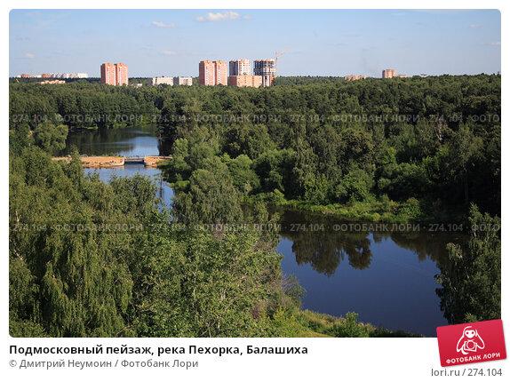 Подмосковный пейзаж, река Пехорка, Балашиха, эксклюзивное фото № 274104, снято 2 августа 2006 г. (c) Дмитрий Неумоин / Фотобанк Лори