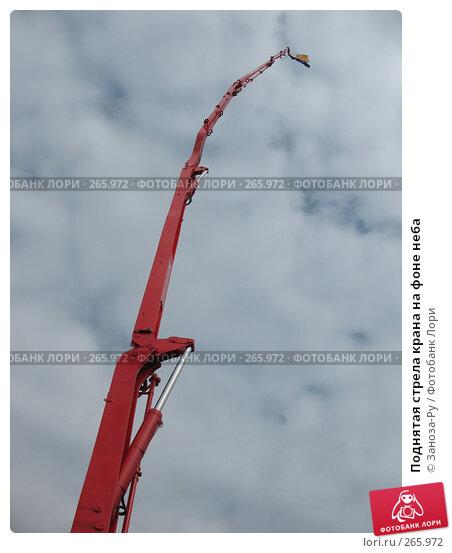 Поднятая стрела крана на фоне неба, фото № 265972, снято 19 апреля 2008 г. (c) Заноза-Ру / Фотобанк Лори