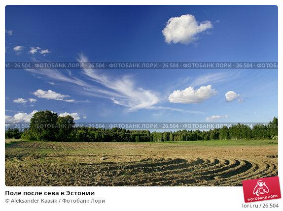 Поле после сева в Эстонии, фото № 26504, снято 23 июля 2017 г. (c) Aleksander Kaasik / Фотобанк Лори